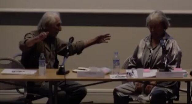 Richard Nonas et Alanna Heiss, le 22 mai 2018, Paris, INHA.
